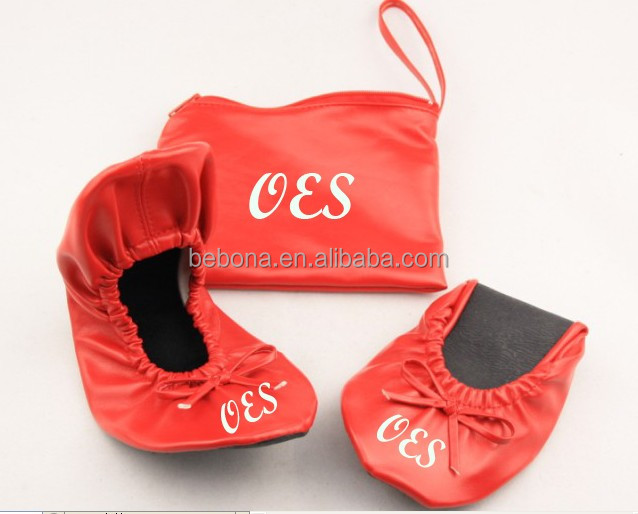 Chinese comfortable ballet shoe in bag rollasole shoes