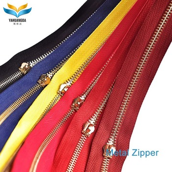 china manufacturer wholesale highly polished cheap 3# 5#8#metal zipper with zipper head for men  wallet bag case