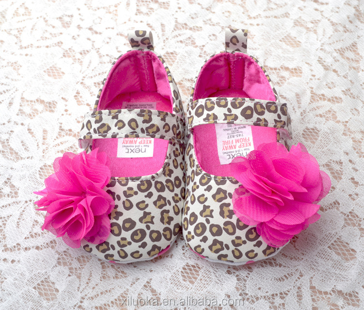 Baby flower leopard printing first walker new baby shoes