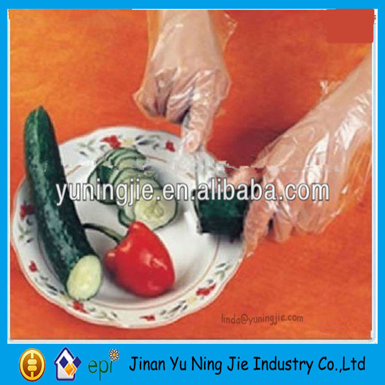 PE Plastic Better Protection Disposable Transparent Gloves