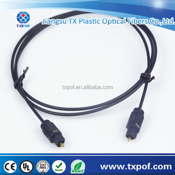 OD2.2mm Cheap Toslink Fiber Cable Toslink Plug Optical Audio Cable