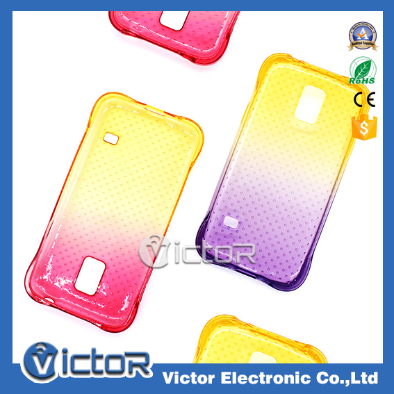 Shockproof gradient contrast corlor tpu case for samsung galaxy s5 mini bumper case