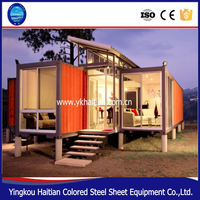 New Zealand hot sael 40 feet prefab container dormitory two bedrooms house