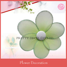 Glitter green Nylon stocking flowers