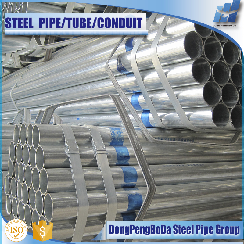 thin wall astm gb standard pre galvanized steel tube