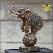 Wholesale for sale New style small elephant resin animal sculpture