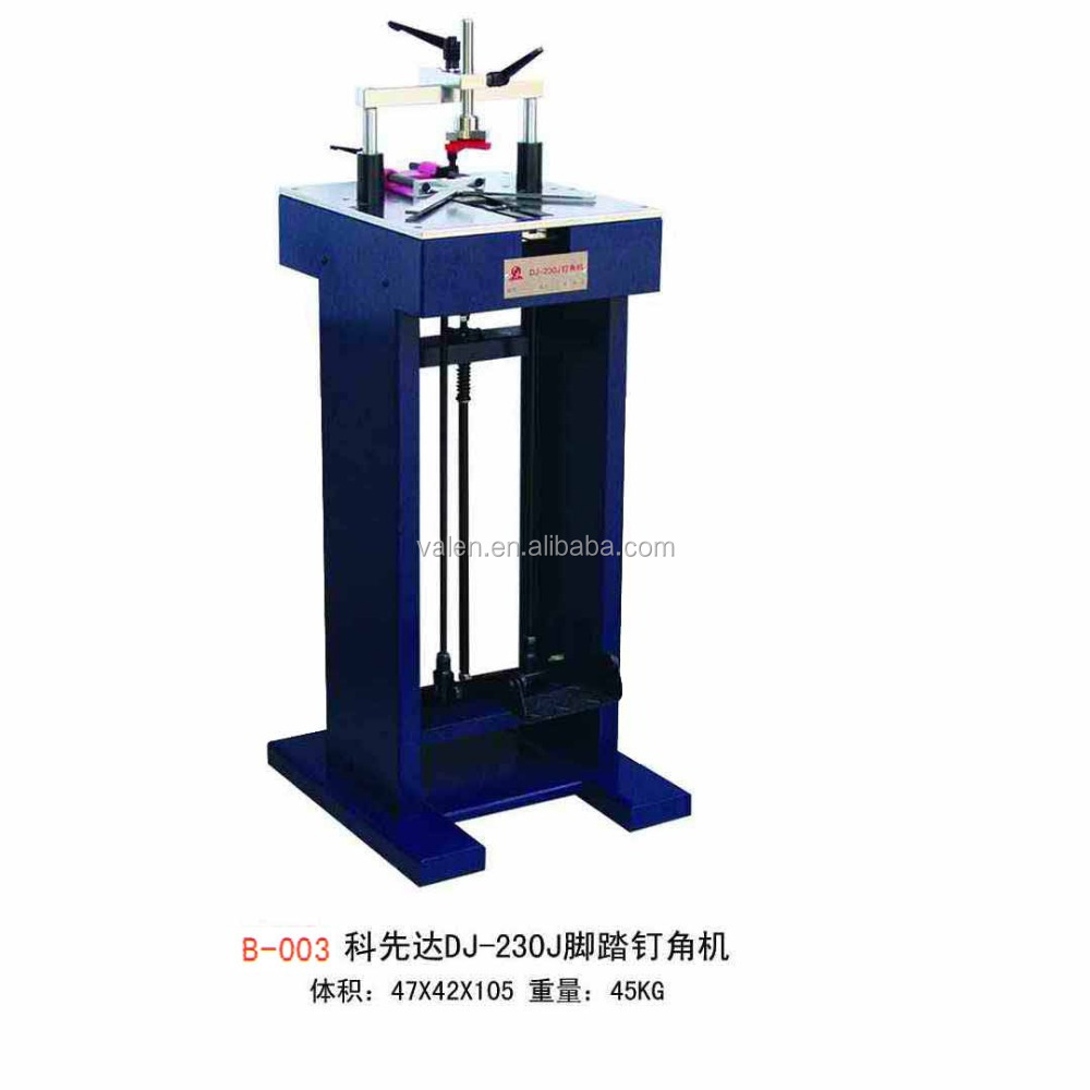 Foot-pedal operated UNDERPINNERS (v-nailers)r/Frame joiners/manual frame cutting machine and joining machine