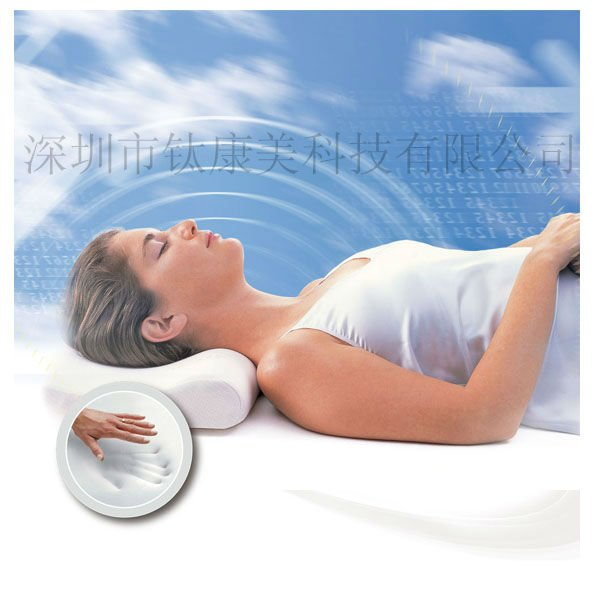 Physical Magnetic therapy gold plated soft memory foam pillow air mesh pillow