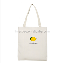 Silk Screen Printing Logo Blank Cotton Tote Bags Calico Material Shopping Bags