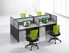 Furniture resource open desk office workstation cubicle with side tall cabinet