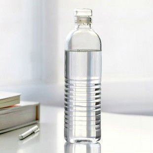 hot sale new design travel pyrex glass water bottle