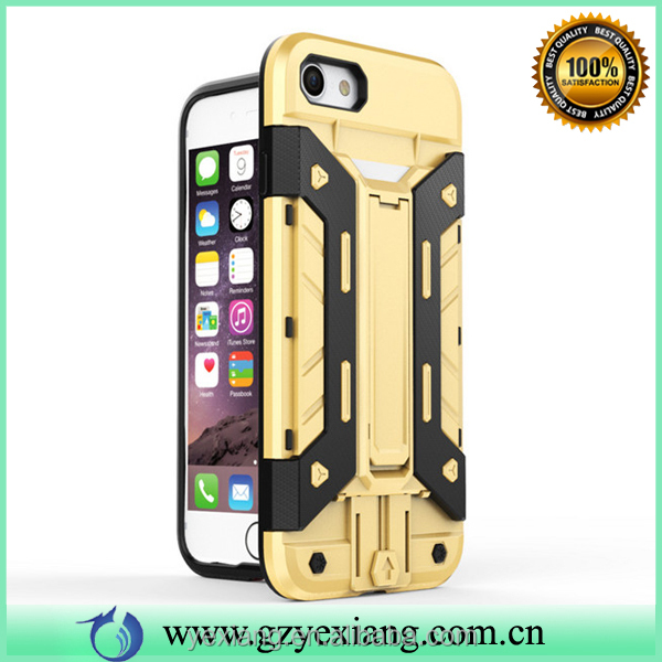New arrival fancy back cover for iphone 5 combo case cover with kickstand