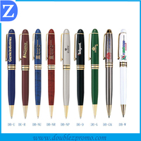 Factory supply high quality metal promo ball pens with logo printed