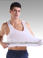 factory price pure cotton white vest for man