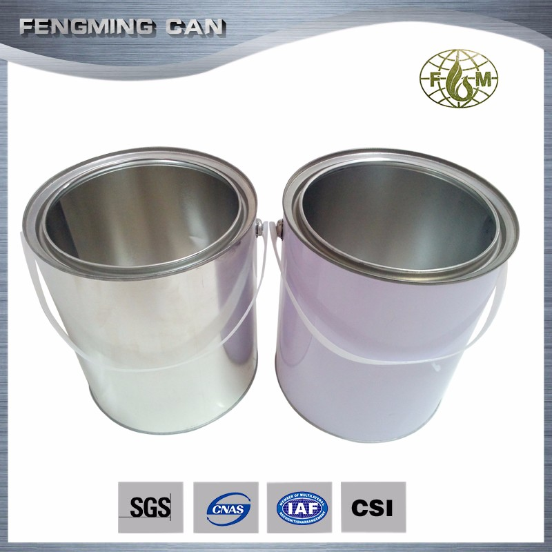 1gallon clear paint can round epoxy gold lined metal can for 1 gallon clear plastic paint cans