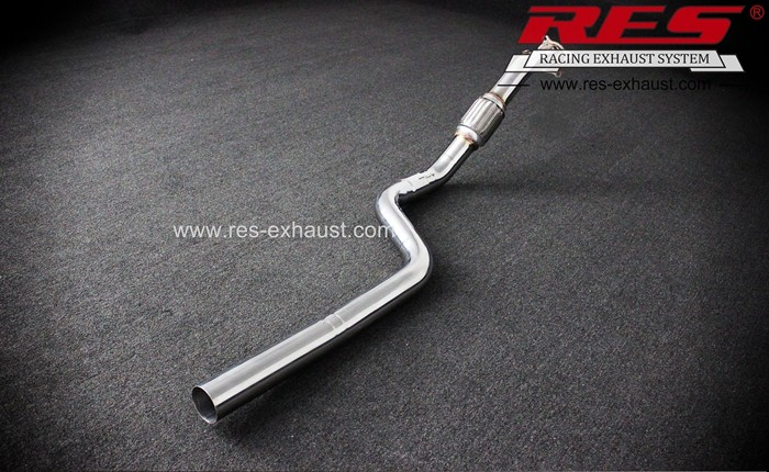 Hot sale gr2 titanium exhaust for Audi A4 A5 Q5 A6 2.0T straight pipe of head parts