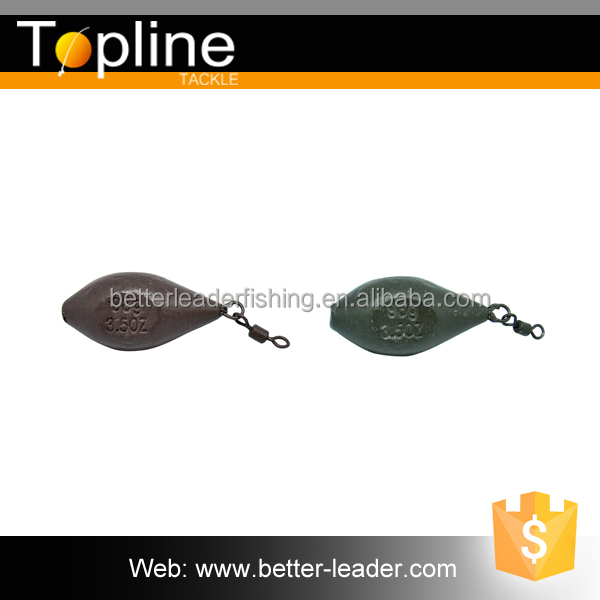 Small MOQ B1008 lure fishing carp leads eyed sinker