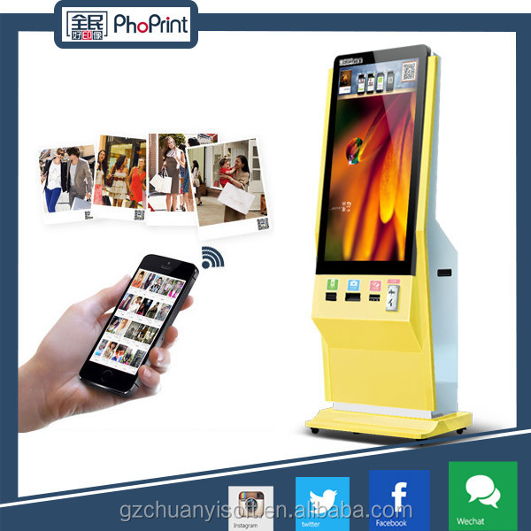 "42"" inch touch screen LCD advertising player and business to business advertising model with 3D photo printer"