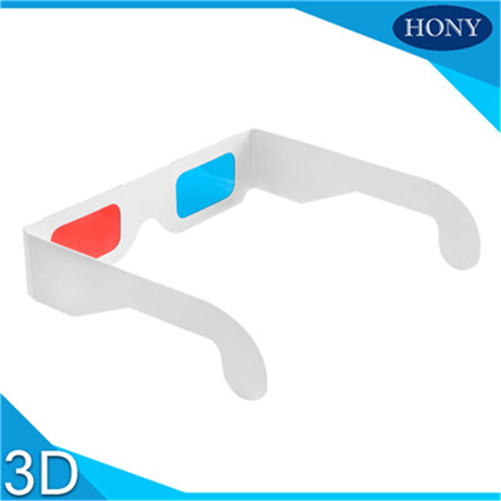 Hony 3D PA0001 Universal Custom Polarized Paper 3D Glasses View Anaglyph Red Cyan Red/Blue Glass