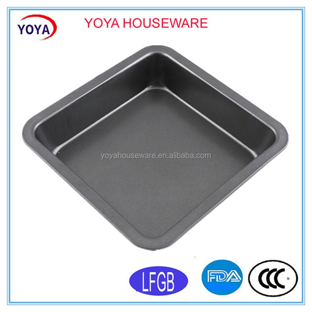 Non stick grey carbon steel bread pan square cake pan baking pan tins