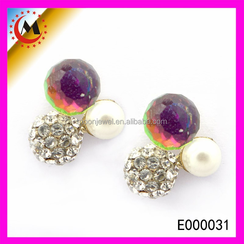 CHILDERN'S SEX PHOTOS NICE ARTIFICIAL DIAMOND EARRING CHEAP JEWELRY CUTE STUD EARRINGS FOR GIRLS
