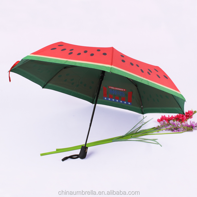 21*8K double layers umbrella watermelon umbrella fruit design umbrella