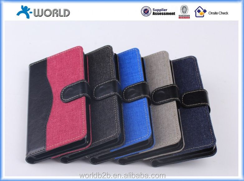 Unique design double color leather case for fire phone