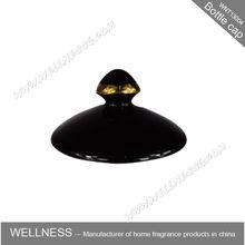 hotsale black ceramic bottle candle jar cap