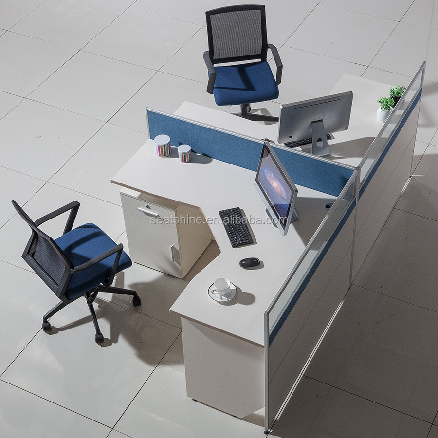 Modular Office Employee Computer Workstation Table