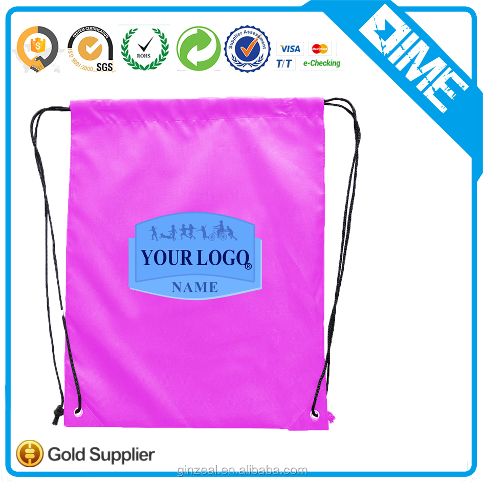 Candy Color Gift Shopping Bag Drawstring Foldable Drawstring Bags for Shopper