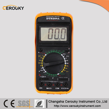 Manual range digital display multimeter watch tools DT9208A