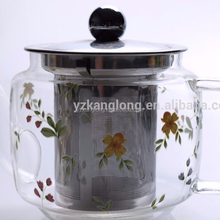 New Hot Sale Eco-friendly Heat Resistant Borosilicate Glass Teapot With 4 Cups