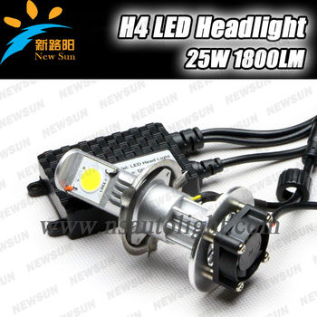 China New H4 led headlight replace xenon hid kit! hot sale 12v 24v Auto Headlight C ree Chips car led headlight