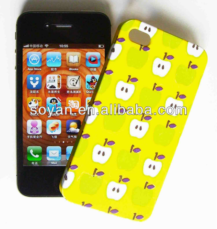 fruits mobile phone cases, factory cell phone back covers, used for iphone 4/4s