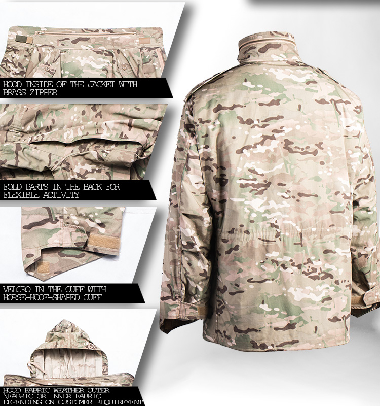 Multi-Camo M65 Army Jacket Military-Usa