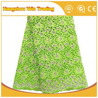 Free Sample for Dress Making Guipure Lace Fabric African Cord lace for evening dress