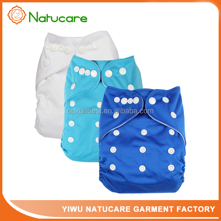 Reusable Baby Cloth Diaper Washable Solid Color Baby Nappy One Size Adjustable Many Colors Available Cloth Diapers