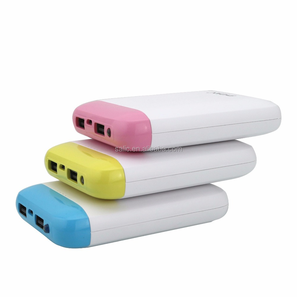 Large Capacity 10400mah External Battery Dual USB Output Power Bank With LED Light