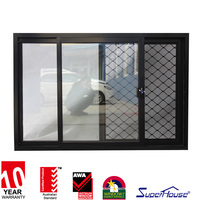 Superhouse double glazed windows / sliding window with mosquito screen / energy efficient windows