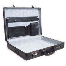 Black Aluminum Metal Briefcase with Lining