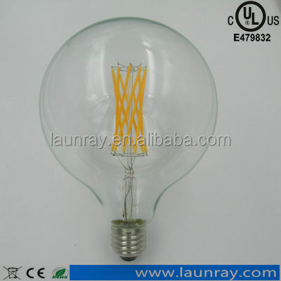 led light spare parts Dimmable Custom Filament Bulb G80 G95 G125 4W 6W 8W Filaments For Decorative Chirstmas Tree Leds