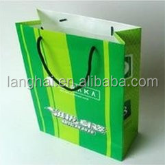 China Supplier navy blue paper shopping bag