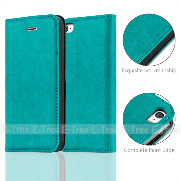 Flip card slots stand wallet Magnet PU leather cover phone case for Apple Iphone 5 5s 5c SE, for apple phone case