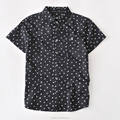 Custom made boys latest short sleeve casual all over print shirt