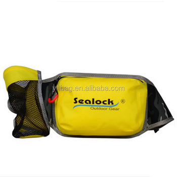 Wholesale Bicycle Sport waterproof Running belt fanny pack waist bag with bottle holder