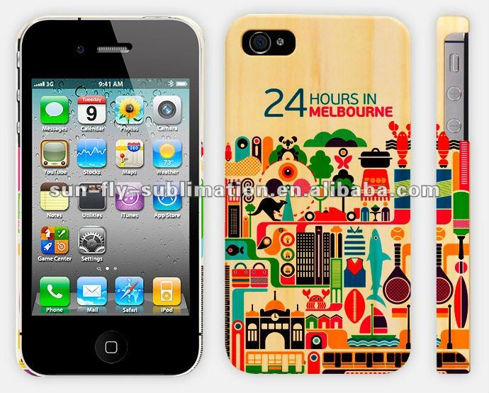 3d sublimation cell phone case Full area printed case for iPhone 4s