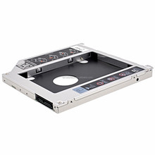 "Aluminum Optibay 2nd HDD Caddy 9.5mm SATA 3.0 SSD CD DVD Case Enclosure caddy for Macbook Pro 13"" 15"" 17"" SuperDrive"