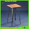 (SP-BT701) Antique industrial iron square wooden high bar table