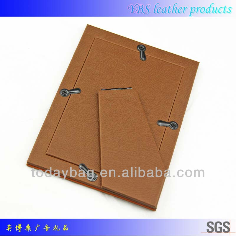 Folding leather photo frame YBS-XK003