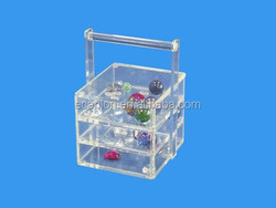 Acrylic storage container/ gift box /cosmetic box cosmetic storage box
